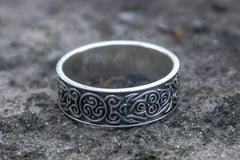Ancient Smithy VW Rings Original Ring  with Decoration Sterling Silver Jewelry