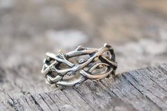 Ancient Smithy VW Rings Plexus Branches Ring Sterling Silver Norse Jewelry