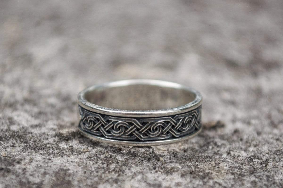 Ancient Smithy VW Rings Original Ring with Exquisite Decoration Sterling Silver Jewelry