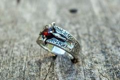 Ancient Smithy VW Rings Exquisite Ring with Decoration and Cubic Zirconia Sterling Silver Jewerly
