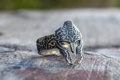Ancient Smithy VW Rings Spartan Helmet Courage Symbol Ring