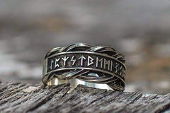 Ancient Smithy VW Rings Original Ring with Norse Runes Pagan Jewelry