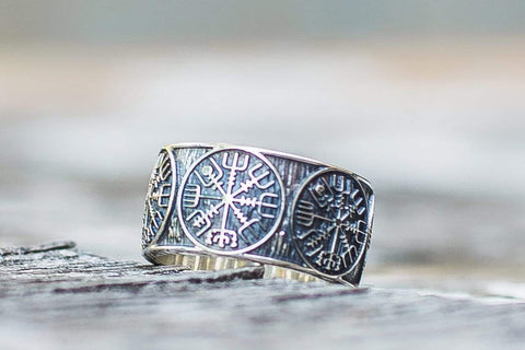 Ancient Smithy VW Rings Vegvisir Runic Compass Sterling Silver Norse Ring