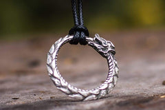 Ancient Smithy VW jewelry Ouroboros Sterling Silver Pendant Norse Pendant