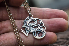 Ancient Smithy VW jewelry Celtic Wolf Ornament Sterling Silver Animal Pendant