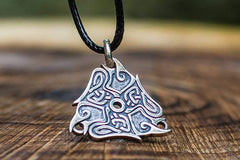 Ancient Smithy VW jewelry Raven Ornament Pendant Sterling Silver Viking Jewelry