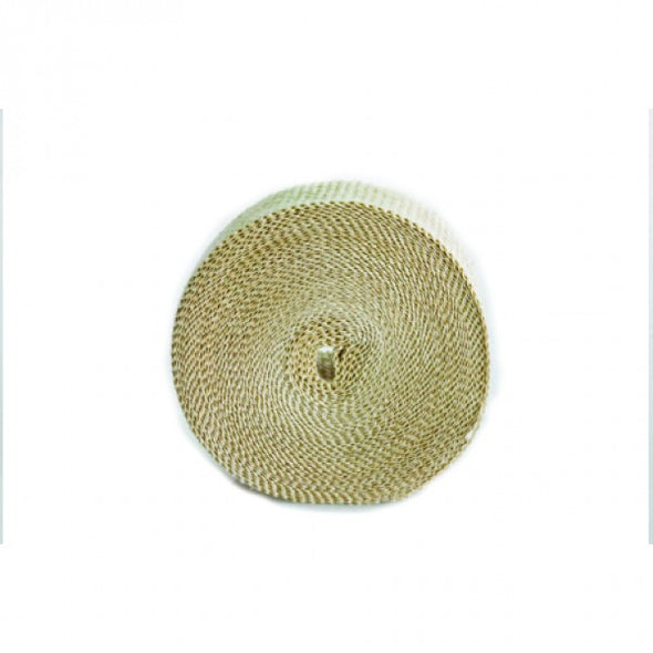 "Fawn Coloured Exhaust Wrap 25mm(1"") Wide x 3mt(10ft) Roll 650⁰C Continuous"