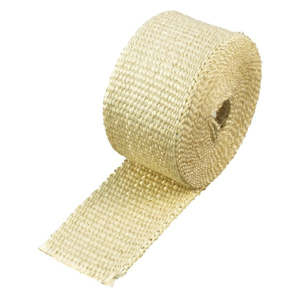 "Fawn Coloured Exhaust Wrap 50mm(2"") Wide x 3mt(10ft) Roll 650⁰C Continuous"