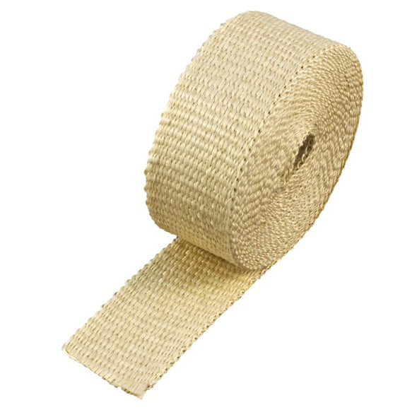 "Fawn Coloured Exhaust Wrap 50mm(2"") Wide x 7.5mt(25ft) Roll 650⁰C Continuous"