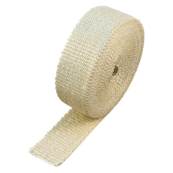 "Fawn Coloured Exhaust Wrap 50mm(2"") Wide x 15mt(50ft) Roll 650⁰C Continuous"