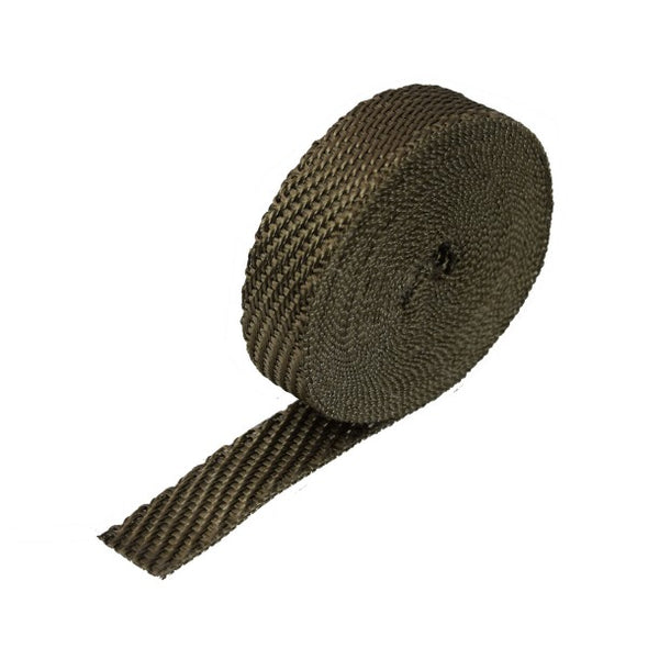 "Lava Exhaust Wrap 25mm(1"") Wide x 7.5mt(25ft) Roll 650⁰C Continuous"