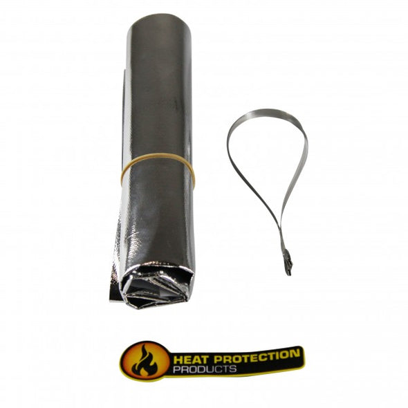 Starter Motor Heatshield Aluminized Cloth 305mm x 505mm + 2 x 355mm Ties