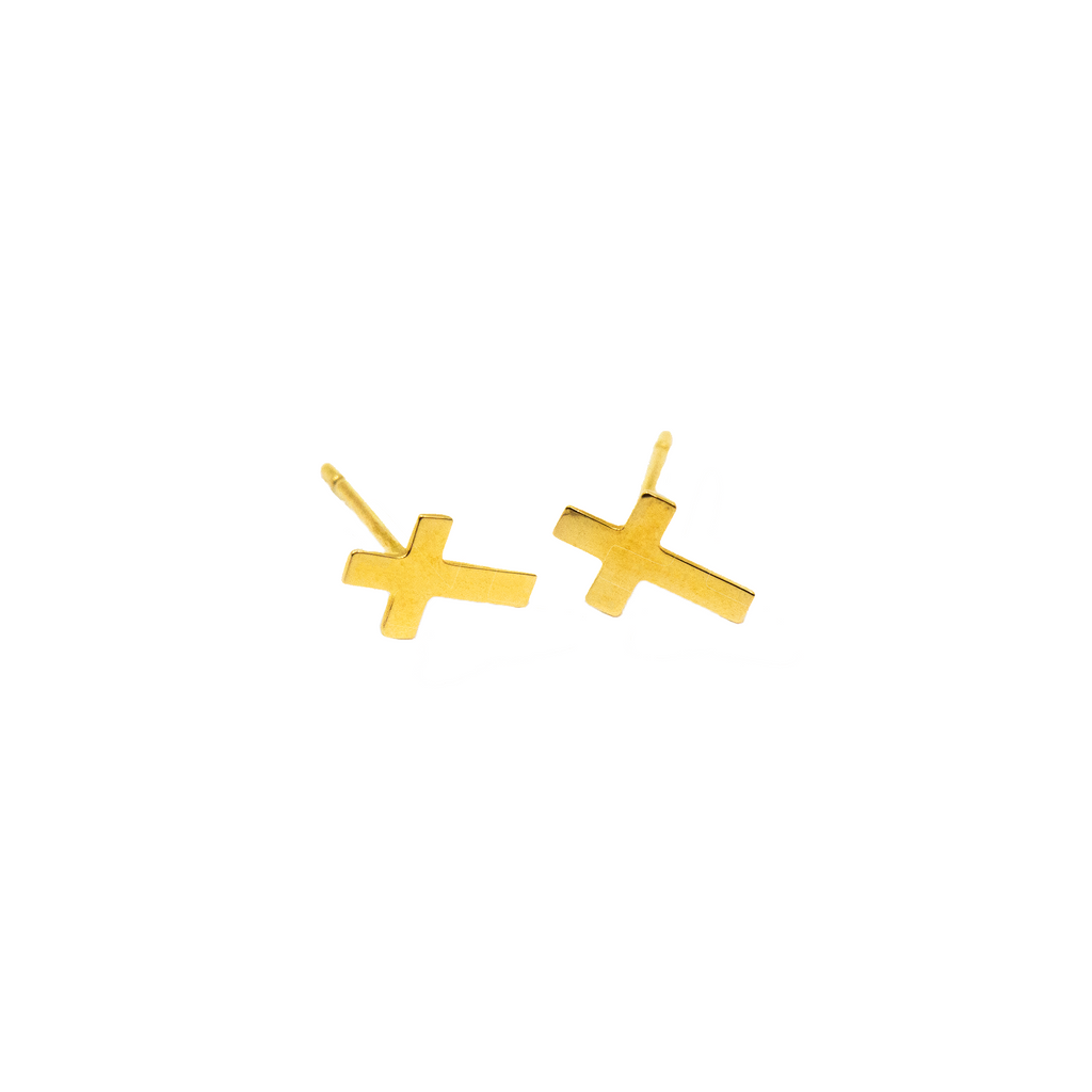 Simple Cross Earring