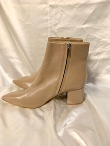 Vic's Marc Fisher Jarli Pointy Ankle Boot in Tan