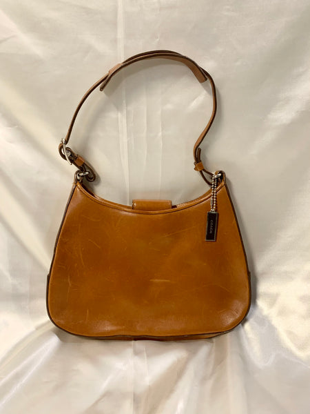 Vic's Coach Baguette Bag in Light Brown