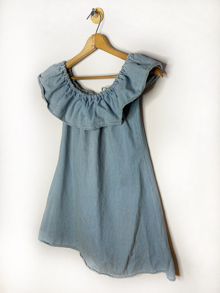 Lauren's Motel Rocks Denim Off-Shoulder Dress