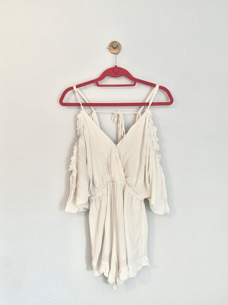 Lauren's Lovers + Friends Malia Romper - Rhymes With Orange