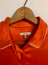 Load image into Gallery viewer, Kat's Ganni Silk Romper - Rhymes With Orange