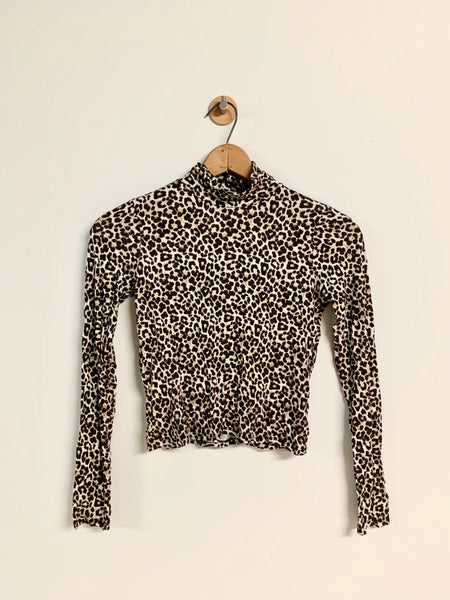 Lauren's American Eagle Leopard Print Long Sleeve - Rhymes With Orange