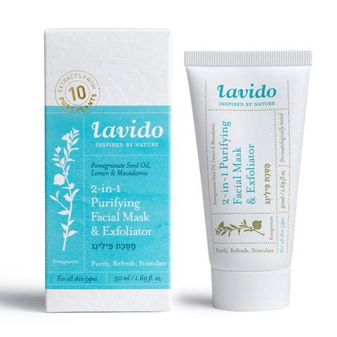 Lavido 2 in 1 purifying facial mask and exfolaitor 50 ML | CODA Cosmetics