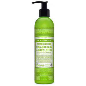 DR. BRONNER ORGANIC HAND & BODY LOTION PATCHOULI LIME