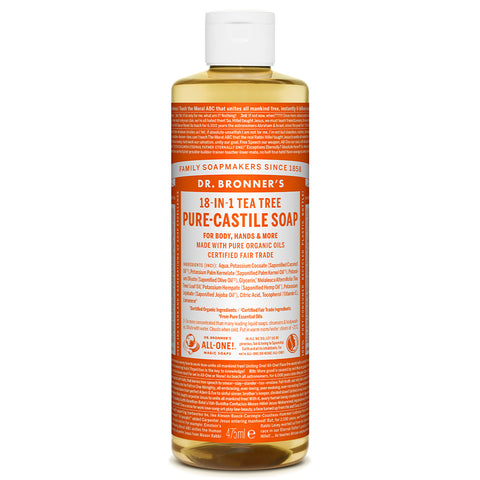 DR. BRONNER PURE CASTILE SOAP TEA TREE 473ML
