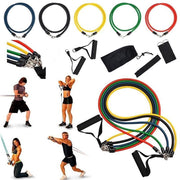 Exercise Resistance Bands Set - 11 Pieces of set