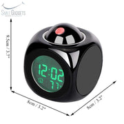 Projection Talking Alarm Clock