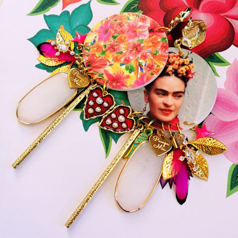 Brincos Exclusivos Frida e Flores
