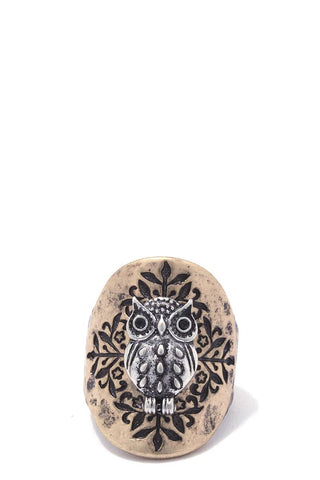 Owl stretch ring