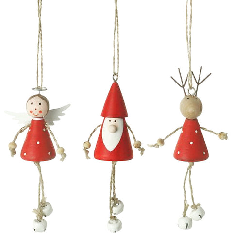Festive Christmas characters with bells
