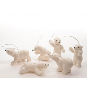 Polar bears Christmas tree decoration
