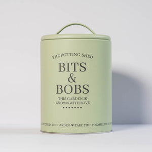 "Potting Shed ""Bits and Bobs"" Storage Tin (Green or Cream)"