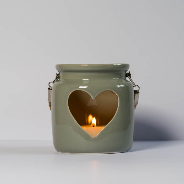 Grey Porcelain Tea Light Holder