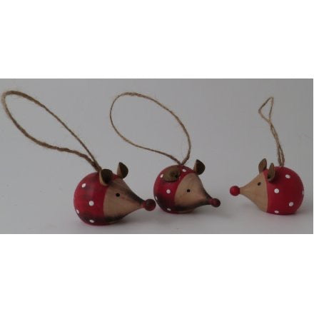 Wooden mouse Christmas tree decoration