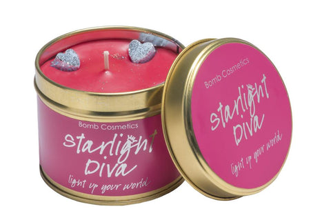 Bomb Cosmetics Starlight Diva Sandalwood and Vetiver Scented Tin Candle