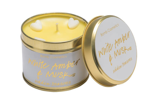 Bomb Cosmetics White Amber and Musk Tinned Candle