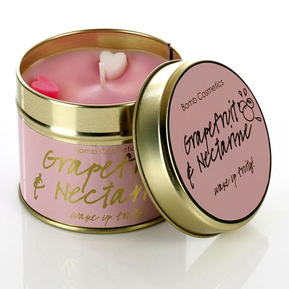 Bomb Cosmetics Grapefruit and Nectarine Tinned Candle