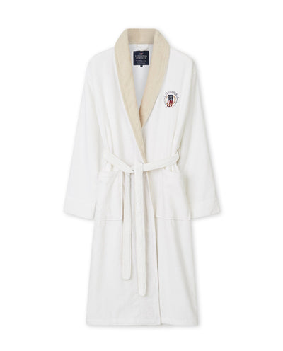 Lexington Cotton Velour Contrast Robe