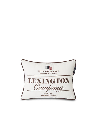 Lexington Logo Cotton Twill Pillow Cover