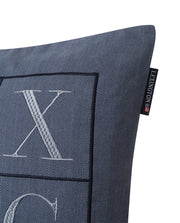 Lexington Herringbone Lexington Logo Pillow Cover