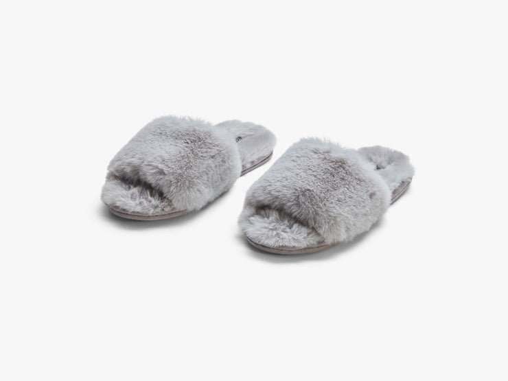 Carpe Diem Beds Fuskpäls Slippers Soft Grey