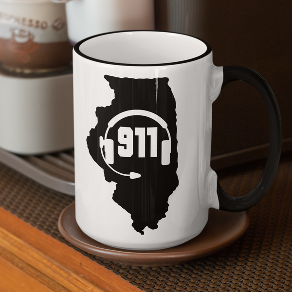 50 States Collection Illinois 911 Dispatcher Mug - Pooky Noodles