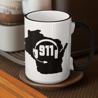 50 States Collection Wisconsin 911 Dispatcher Mug - Pooky Noodles
