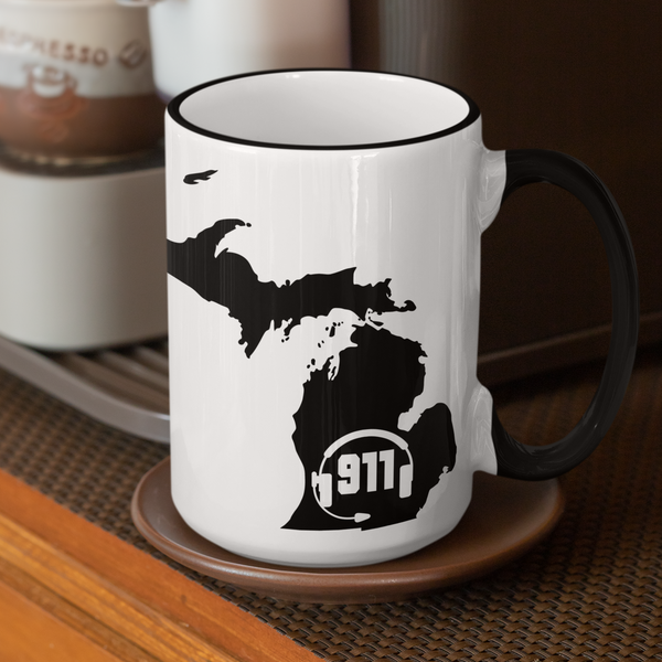 50 States Collection Michigan 911 Dispatcher Mug - Pooky Noodles
