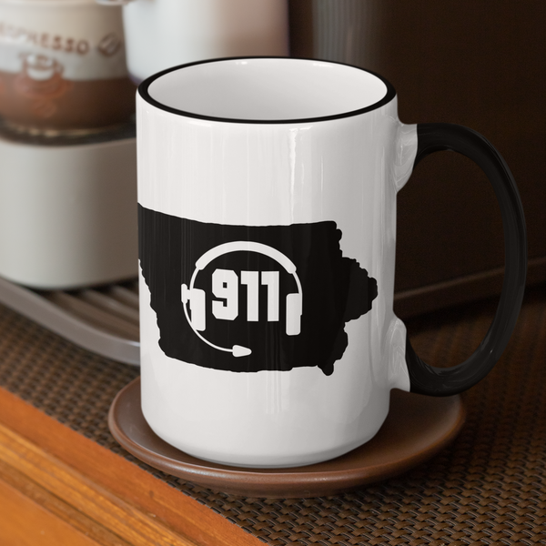 50 States Collection Iowa 911 Dispatcher Mug - Pooky Noodles
