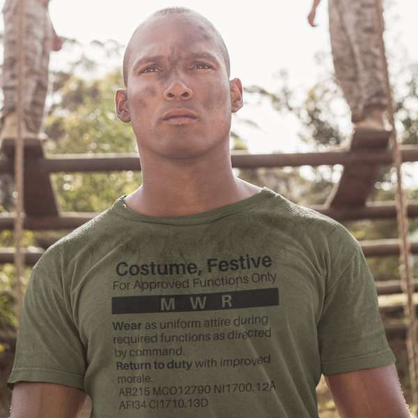 MILSPEC Standard Issue Costume, Festive T Shirt - Military Humor - Pooky Noodles