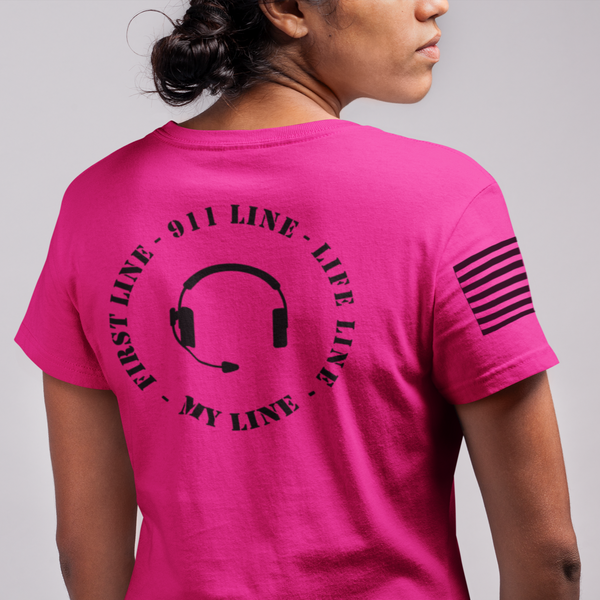 911 Line - My Line Emergency Calltaker & Dispatcher T Shirt