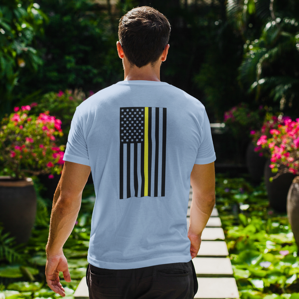 Thin Gold ~ Yellow Line Flag Unisex T Shirt - Pooky Noodles