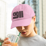 911 Dispatcher Silhouette with Headset Dad Hat Style Ball Cap - Pooky Noodles